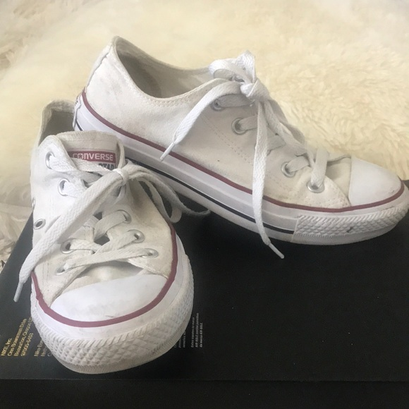 Converse Shoes | Used Converse All Star White Low Tops | Poshmark